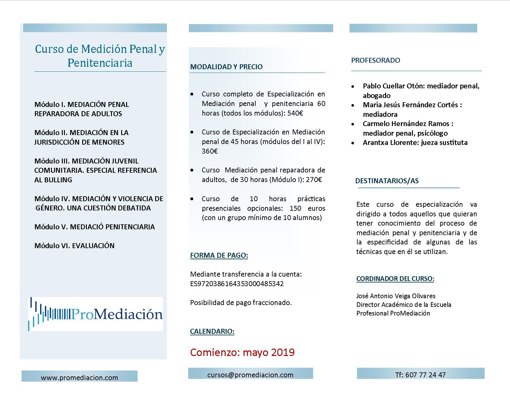 PUBLICIDAD CURSO PENAL - Mediación